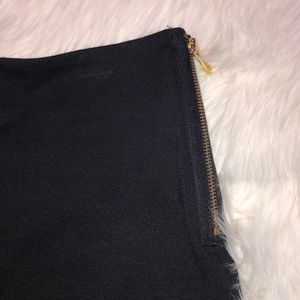 MICHAEL Michael Kors Skirts - Michael Kors black mini skirt with gold zippers